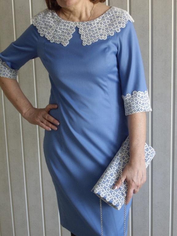 Как отделать платье кружевом